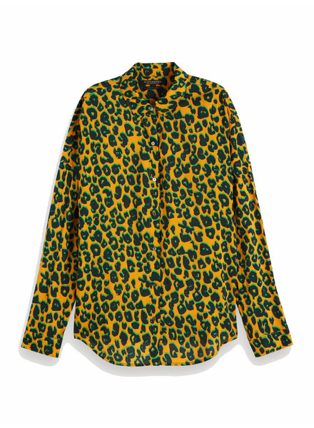 SCOTCH & SODA 154267 91 Printed cotton viscose shirt
