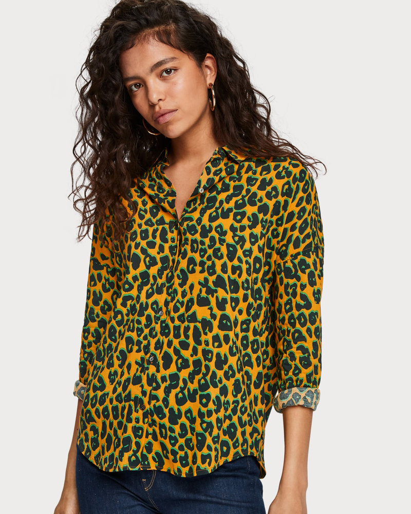 SCOTCH & SODA 154267 91 Printed cotton viscose shirt