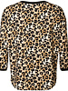 GEISHA 93537-10 T-shirt V-neck AOP leopard sand/black