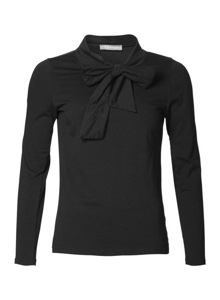 GEISHA 93683-20 Jersey top solid with bow black