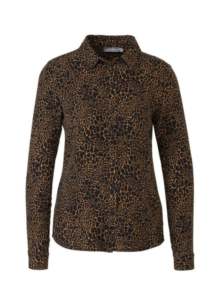 GEISHA 93625-20 Blouse AOP animal camel combi