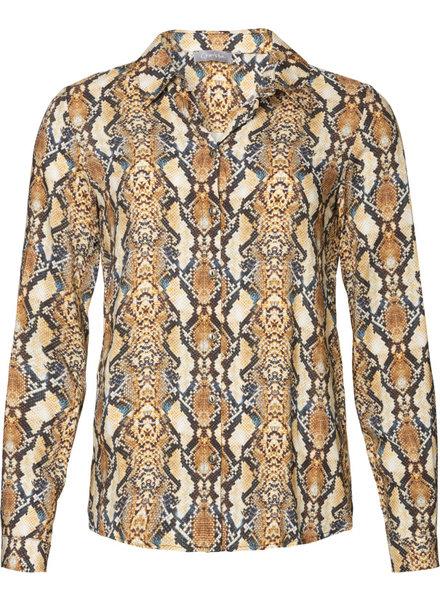 GEISHA 93627-20 Blouse AOP snake camel combi