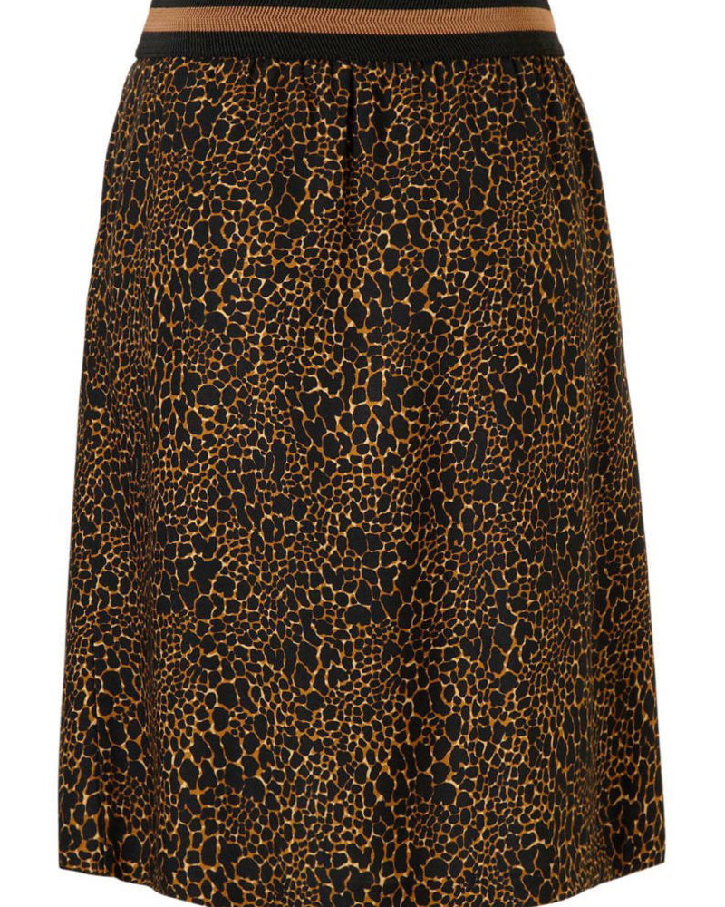 GEISHA 96572-20 Skirt AOP animal elastic waist camel combi