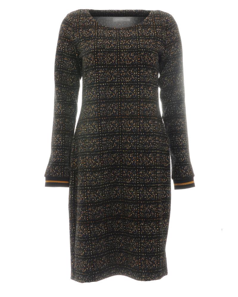 GEISHA 97780-20 Dress jacquard with lurex black combi