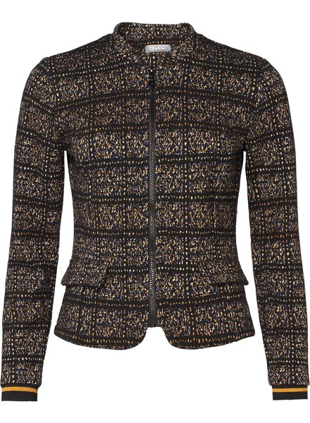 GEISHA 95602-20 Jacket jacquard zipper closure black combi