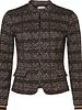 GEISHA 95602-20 Jacket jacquard zipper closure black combi