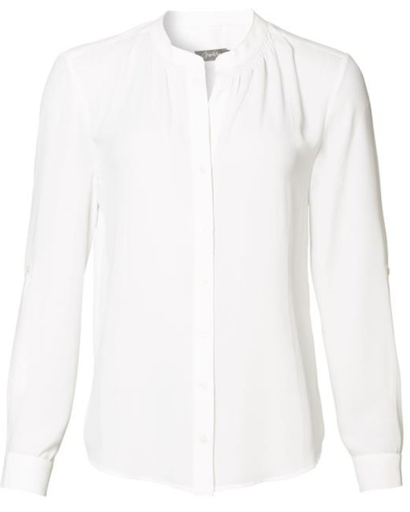 GEISHA 93504-10 Blouse solid with smock detail off-white