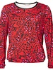 GEISHA 93516-40 T-shirt round neck LS AOP red/fuchsia/black