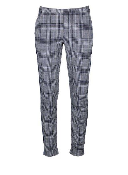 GEISHA 91596-60 Check pants piping blue/black
