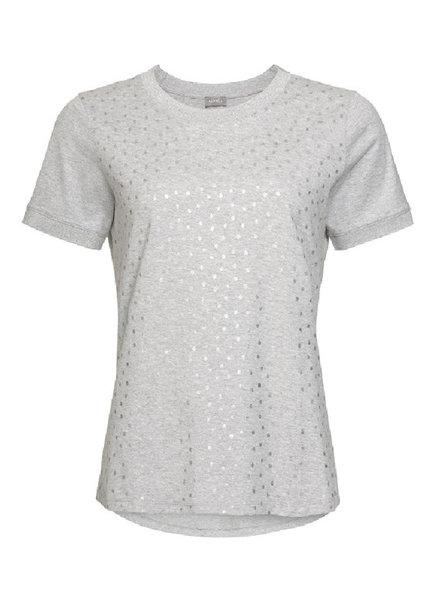 GEISHA 92518-61 T-shirt SS silver print grey melange