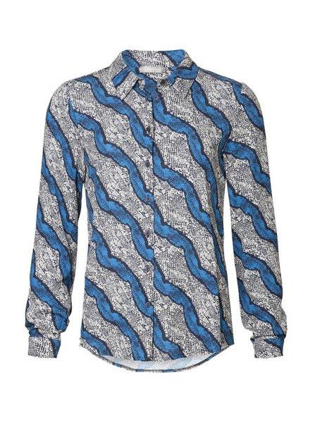 GEISHA 93634-20 Blouse AOP blue combi