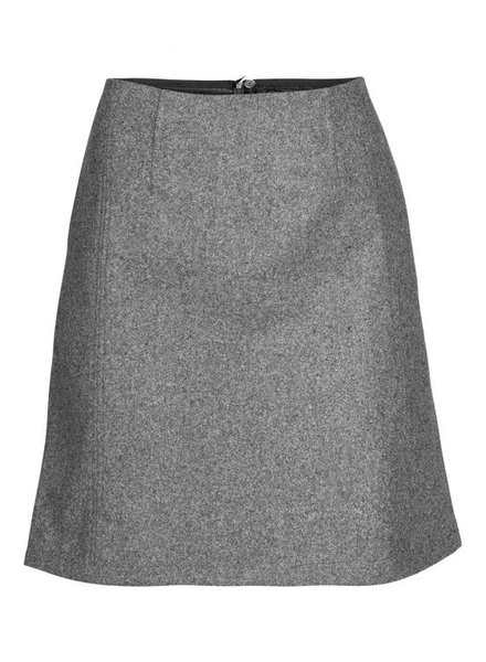 GEISHA 96508-10 Skirt wool blend grey melange
