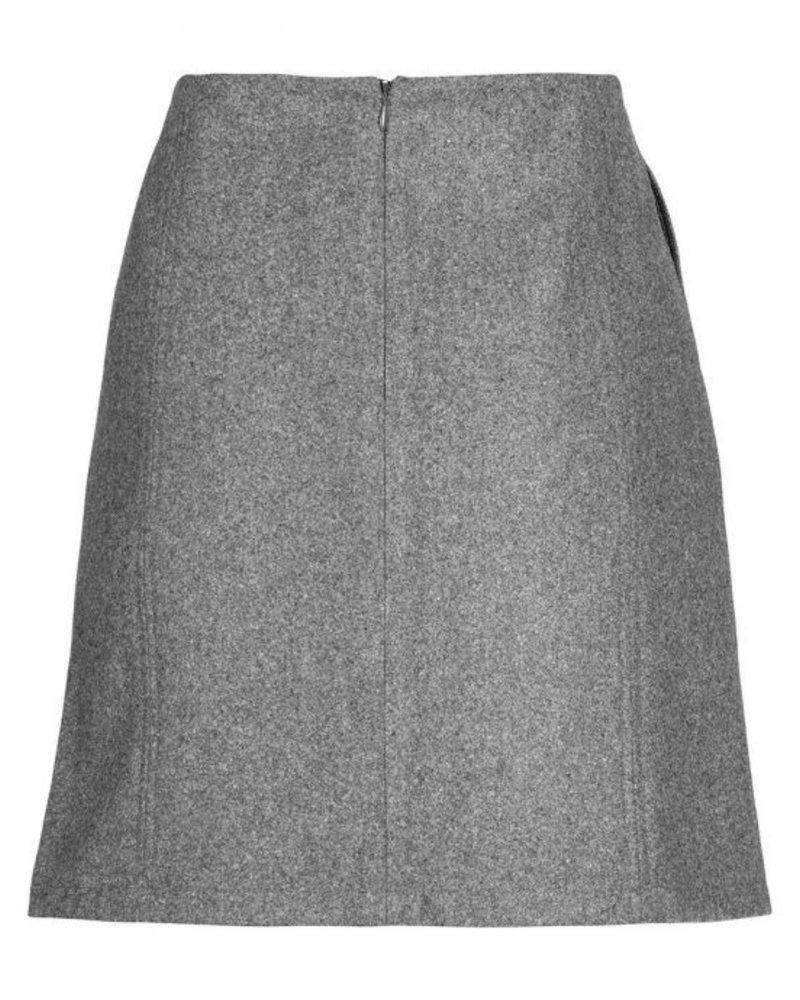 GEISHA 96508-10 Skirt wool blend grey melange