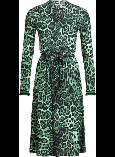 GEISHA 97751-20 Maxi dress AOP with strap green combi