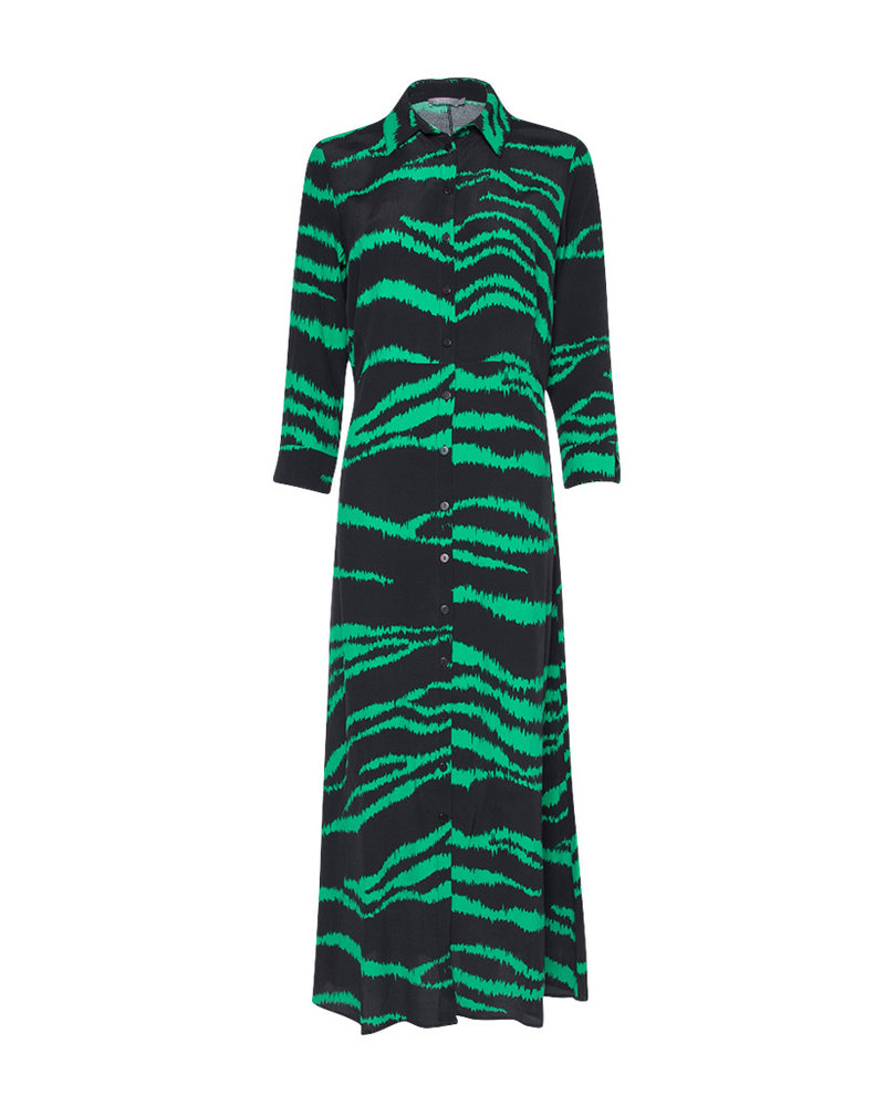 GEISHA 97762-20 Maxi dress bi-color green combi