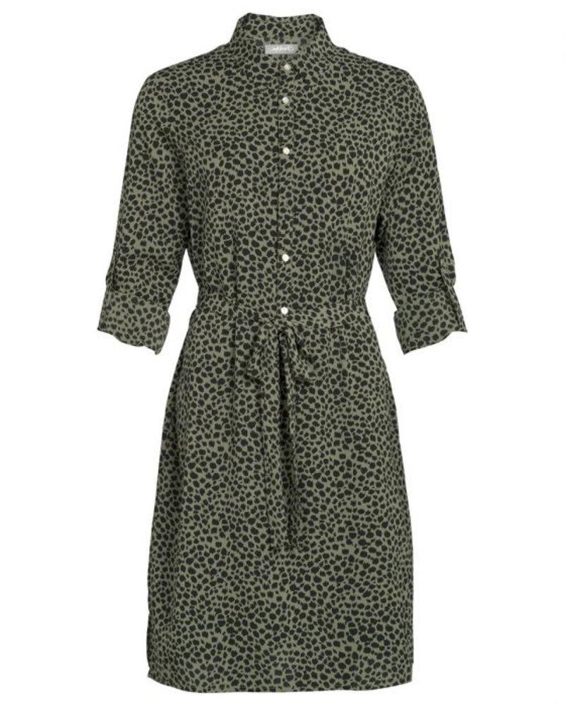 GEISHA 97853-21 Dress with buttons AOP leopard 000550 army/black panter