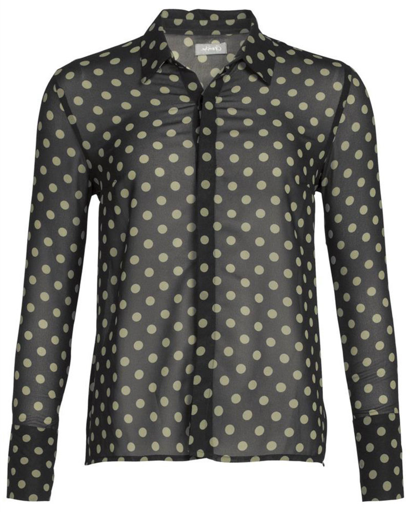 GEISHA 93824-21 Blouse dots 000999 black/army