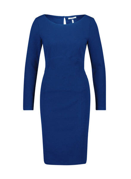 FREEBIRD Nadia blue long sleeve scuba bodycon work mini dress royal blue