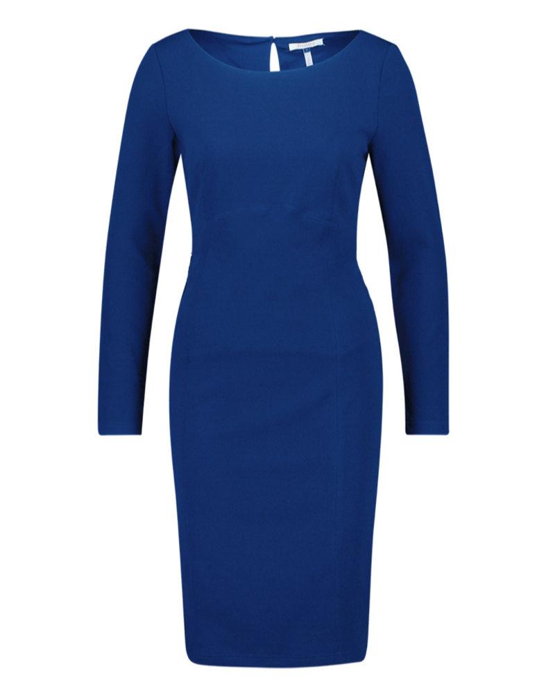 FREEBIRD Nadia blue long sleeve scuba bodycon work mini dress royal blue