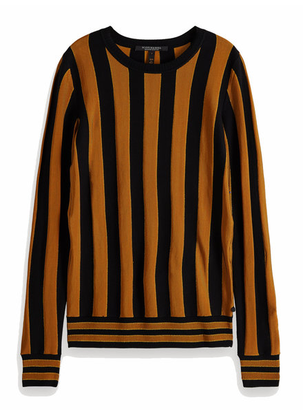 SCOTCH & SODA 153212 0593 Basic pullover in vertical stripe