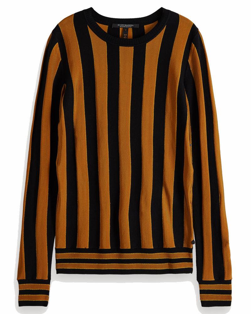 SCOTCH & SODA 153212 0593 Basic pullover in vertical stripe
