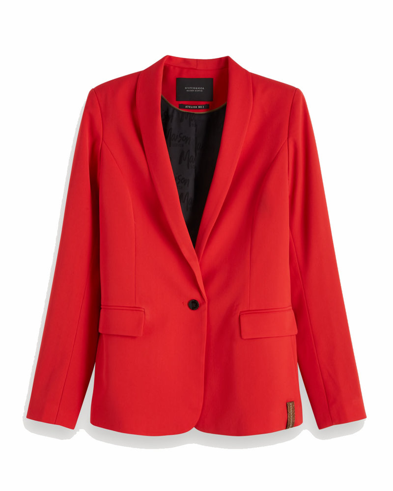 SCOTCH & SODA 154298 2451 Classic tailored blazer with elasticated waist at back