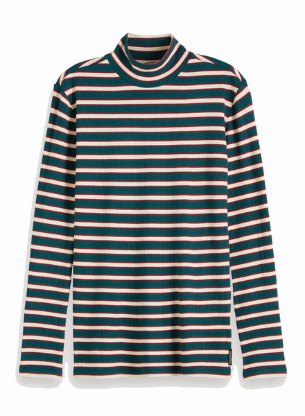 SCOTCH & SODA 153018 18 Striped turtle neck