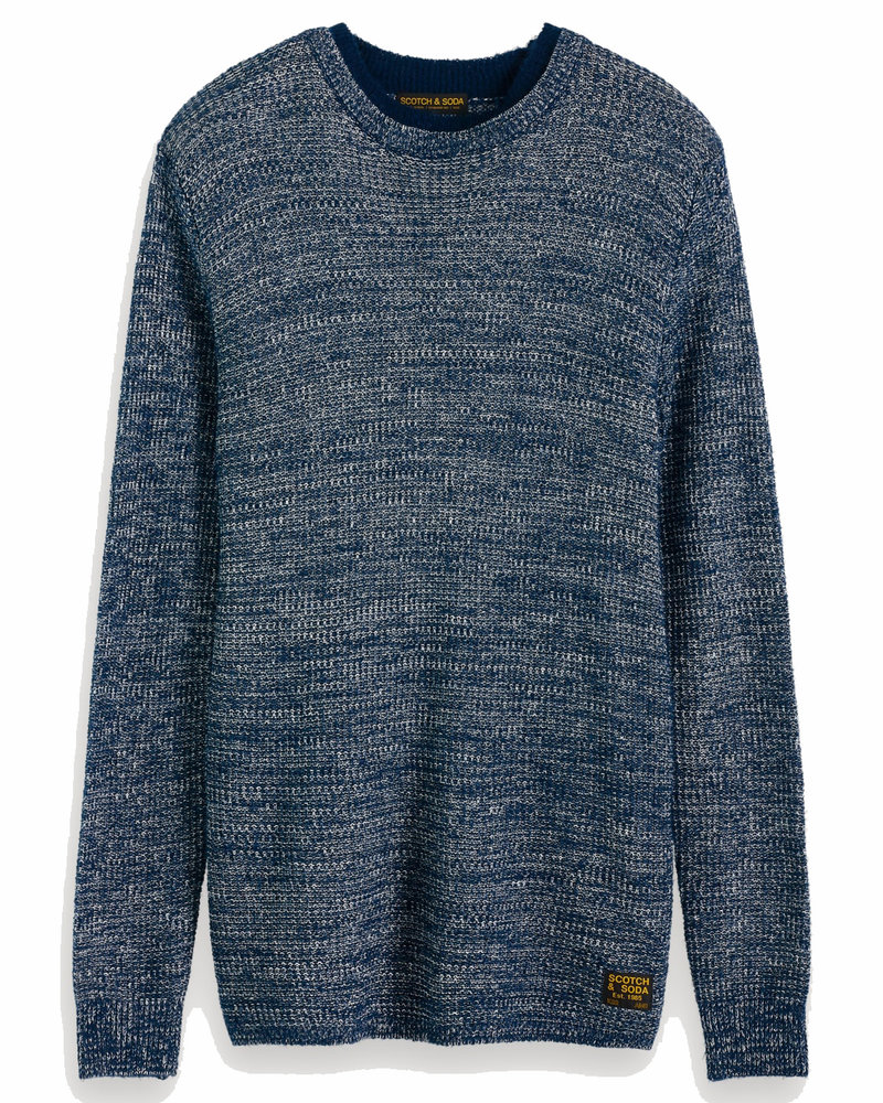 Scotch&Soda 152359 0419 Melange pull in structured knit with double-layered collar