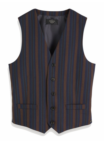 Scotch&Soda 152110 0217 Chic gilet in yarn-dyed pattern