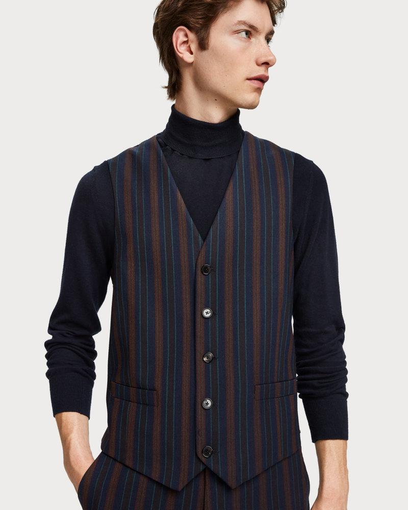 Scotch&Soda 152110 0217 Chic gilet in yarn-dyed pattern