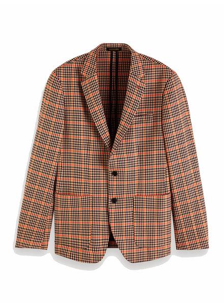 Scotch&Soda 152060 0218 Chic unconstructed blazer in yarn-dyed pattern