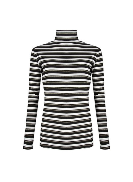 ESQUALO W19.30708 TOP STRIPED BLACK