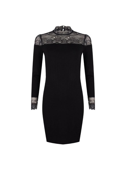 ESQUALO W19.07714 DRESS LACE SLEEVES BLACK