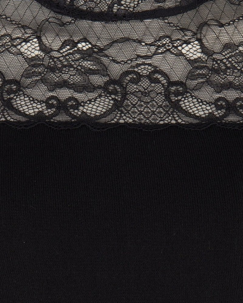 ESQUALO W19.07714 DRESS LACE SLEEVES BLACK