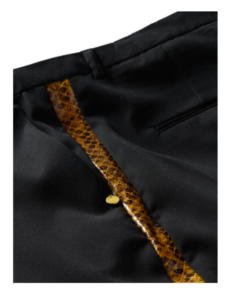 SCOTCH & SODA 154242 08 Tailored pants with faux snake skin side panel