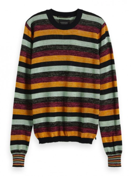 SCOTCH & SODA 153217 0602 Fitted pullover in multicolour lurex stripe