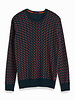 Scotch&Soda 152353 0218 All-over printed crewneck pull in soft quality