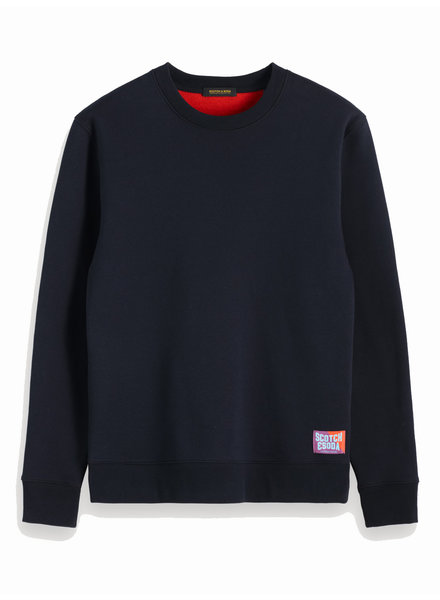 Scotch&Soda 152215 0002 Classic crewneck sweat with contrast inside