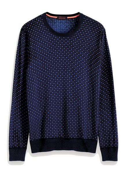 Scotch&Soda 152353 0217 All-over printed crewneck pull in soft quality