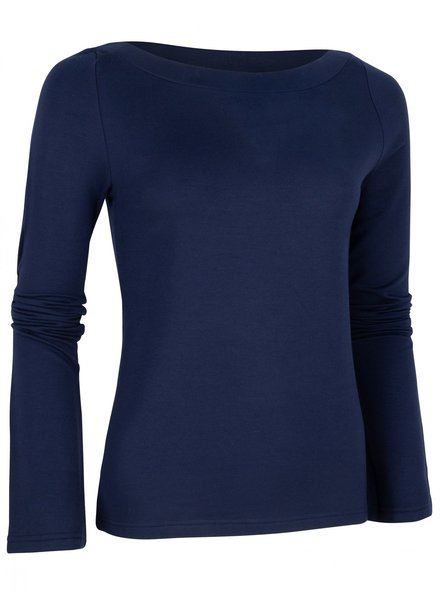 CAVALLARO DAMES 6495004 Modala boat neck top dark blue