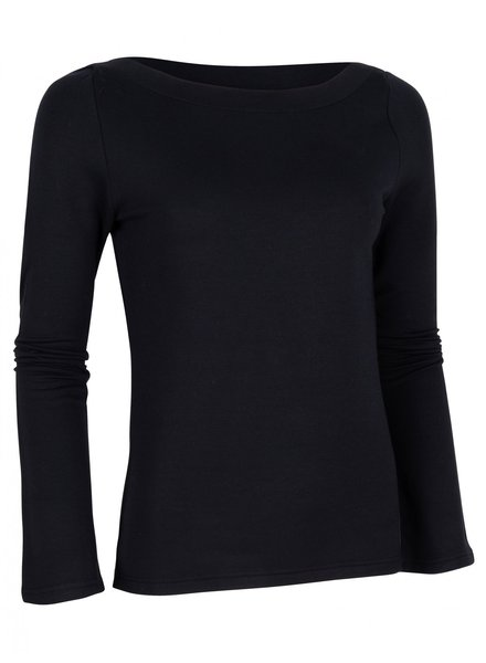 CAVALLARO DAMES 6495004 Modala boat neck top black