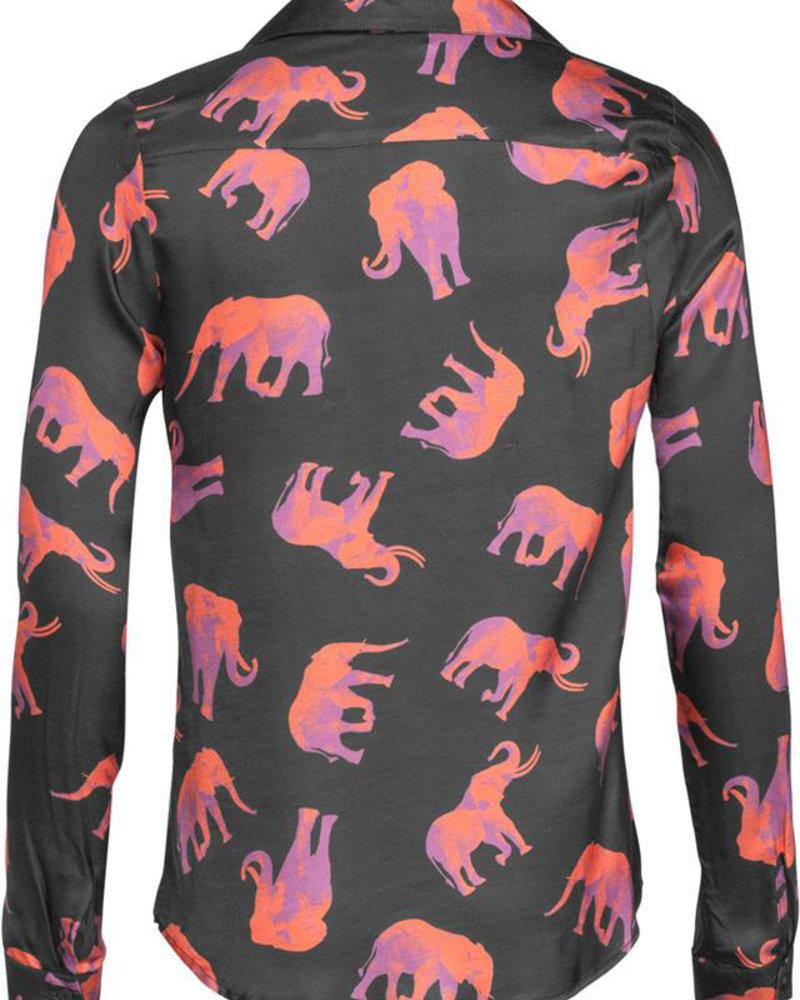 GEISHA 93906-20 Top AOP elephants 000999 black/coral combi