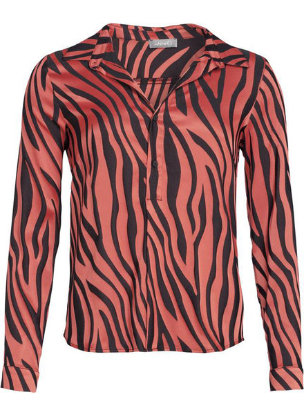 GEISHA 93946-20 Blouse AOP zebra LS 000450 red/black combi