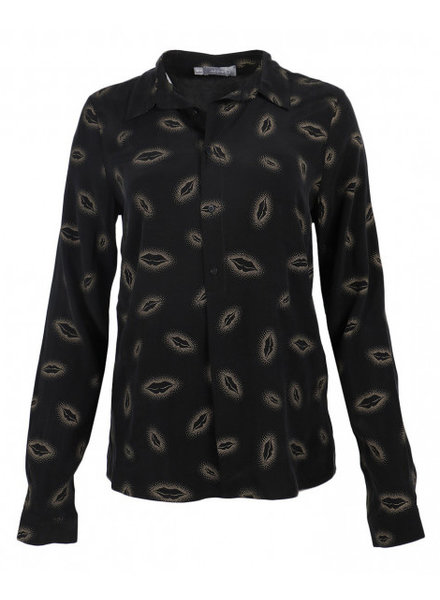 GEISHA 93904-20 Blouse gold lips 000999 black combi