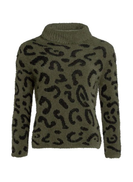 GEISHA 94578-70 Pullover bi-color with col army/black