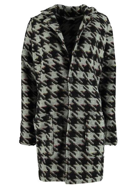 GEISHA 94566-20 Long cardigan pied de coq grey combi