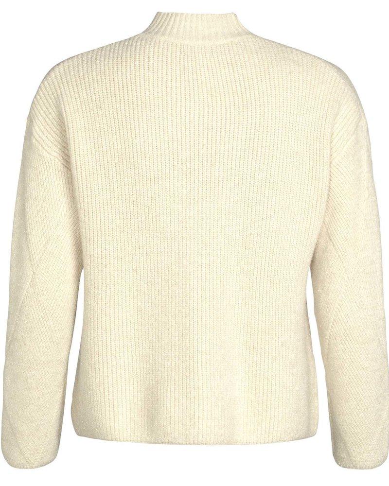 GEISHA 94537-22 Pullover turtle neck with lurex off-white