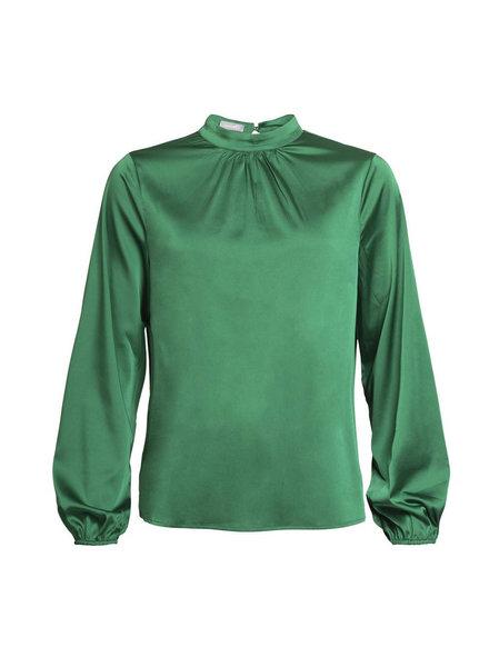 GEISHA 93584-99 Solid top LS stretch satin green