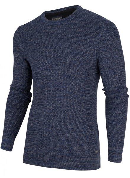 CAVALLARO 1895008 Aranido R-Neck Pullover 63000 Dark Blue