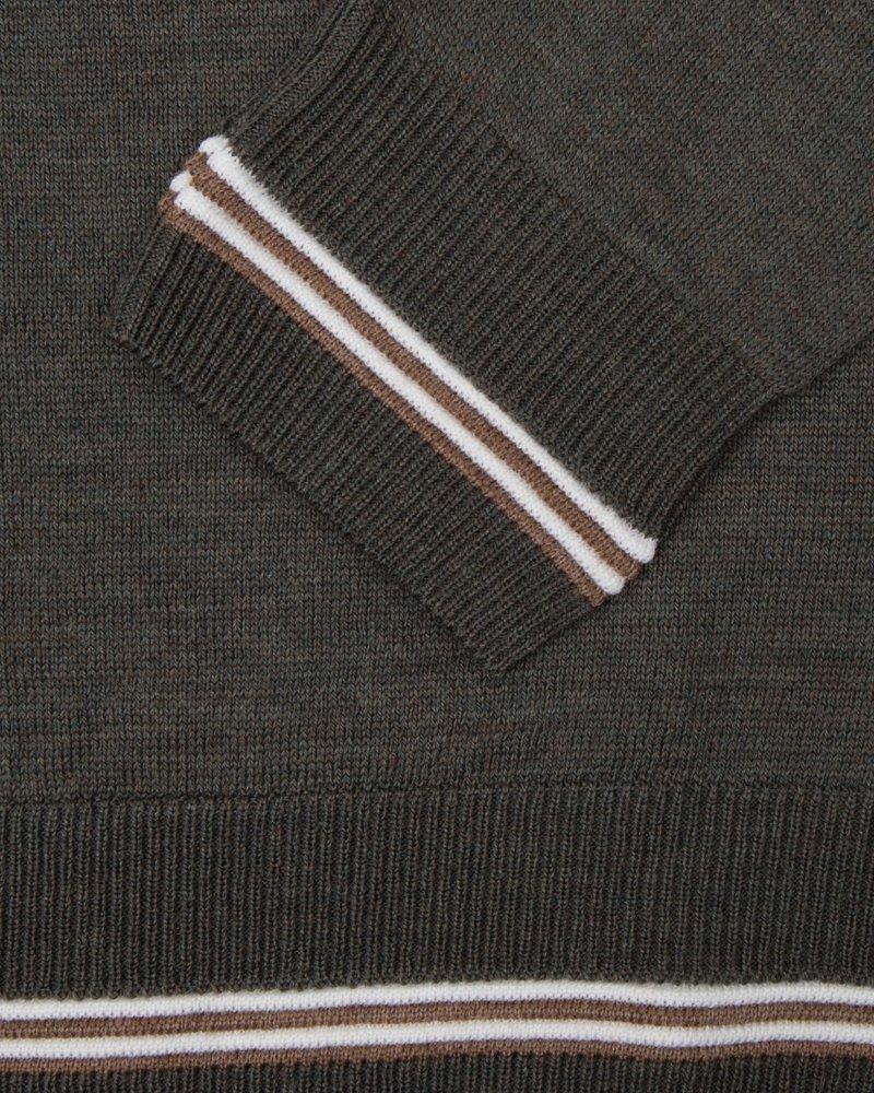 CAVALLARO 1895007 Romagno V-Neck Pullover 50000 Green